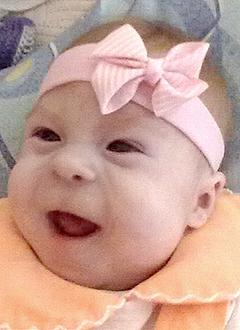 Ангелина Овчинникова, 4 месяца, врожденная левосторонняя косолапость, требуется лечение. 120000 руб.