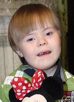 Владик Володин, 7 лет, синдром Дауна, грубая задержка психоречевого развития, требуется курсовое лечение. 199200 руб.